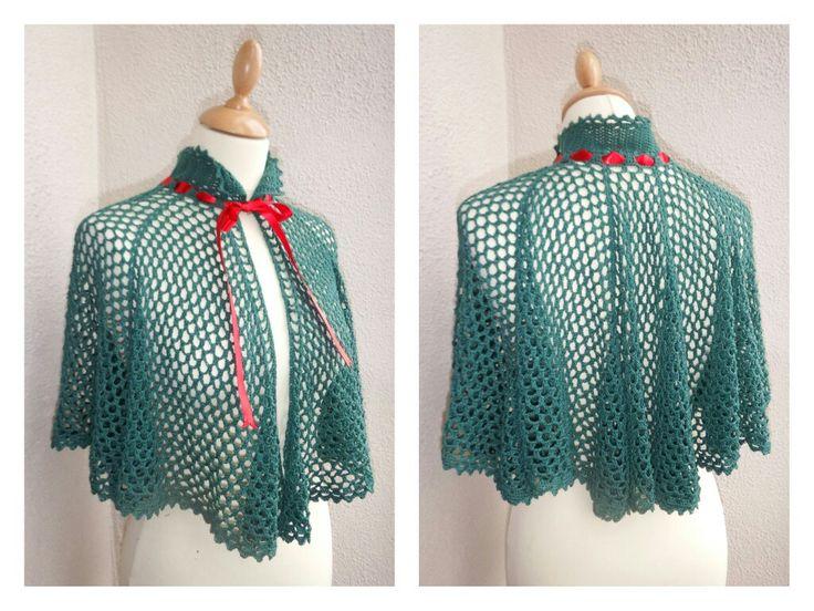 Victorian inspired cotton cape.