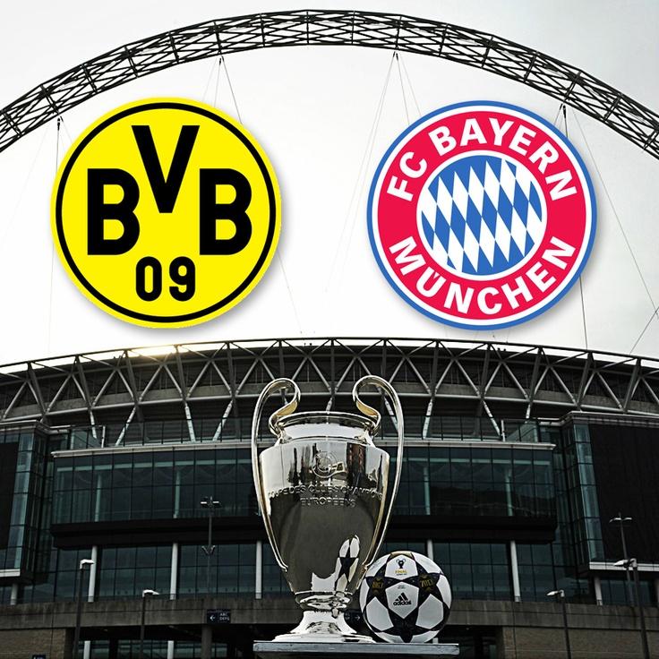 It's on! Borussia Dortmund vs Bayern Munich. Wembley Stadium. May 25. #ChampionsLeague