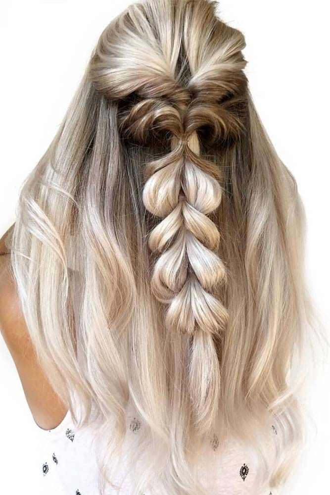 65 Straight Hairstyles For Long Hair Lovehairstyles Com Hair Styles Wedding Guest Hairstyles Easy Wedding Guest Hairstyles