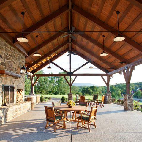 97 best club house pavilion images on pinterest   backyard ideas ... - Patio Pavilion Ideas