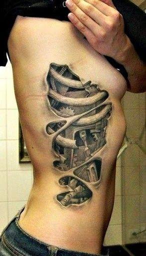 rib side tattoo for fashion girls.Awesome Tattoos and Tattoo Designs   #tattoo #design #girls www.loveitsomuch.com