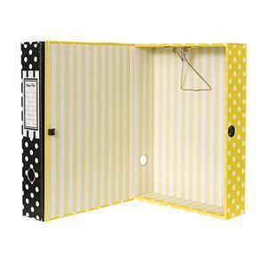 Box File Foolscap Matte Laminate Spot Yellow