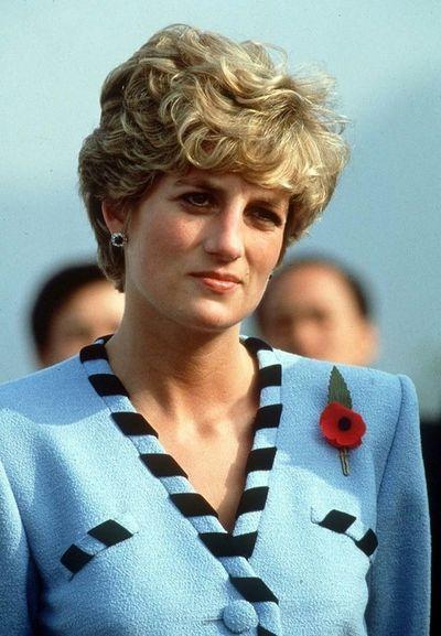 1992 Nov 3 Princess Diana in Korea in Blue