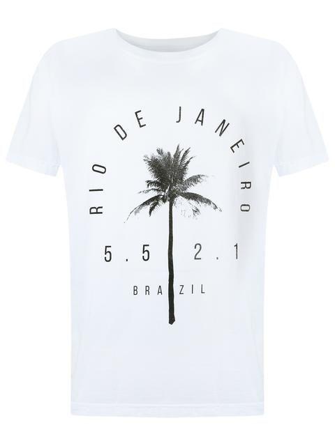 Encontre Camiseta Masculina Stone Coqueiros   Osklen   Branco No Verão  Troca Fácil.