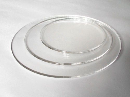Details about Round 5mm thick clear acrylic ganache cake