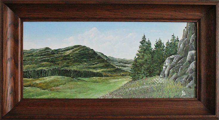 Obrazy - Rozkvitnutá lúka - Originál olejomaľba by artist Jozef Baláž