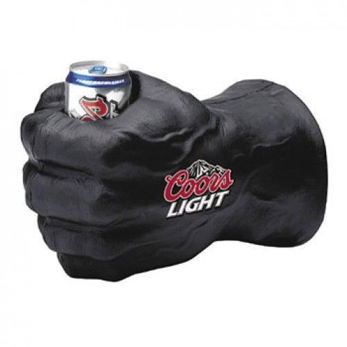 Coors Light Black Fist Tufglove Koozie Official From