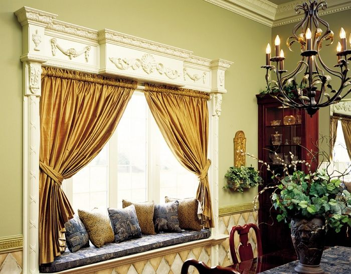 Using Curtains Above Window Seat Decor Pinterest