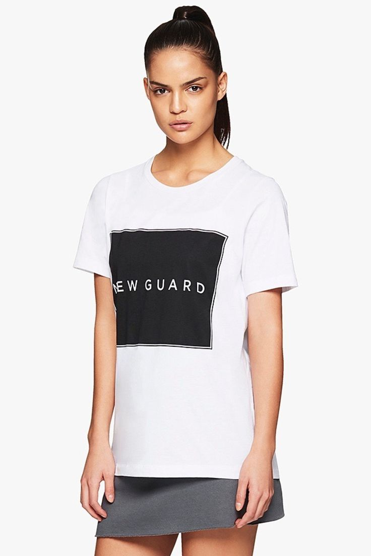 New Guard Logo Tee in White