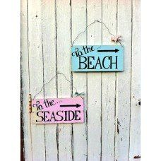 To the Beach sign made by Button & Jewels Vintage Sign Company in #Merseyside - £22.95