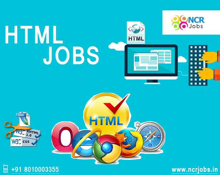 HTML jobs for Web Developer, User Experience Designer, Web