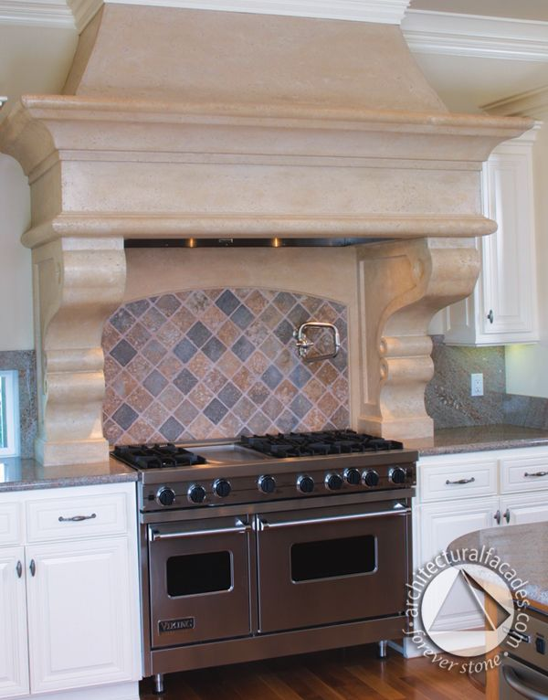 Beautiful kitchen hood - the perfect accent piece to top off your kitchen.