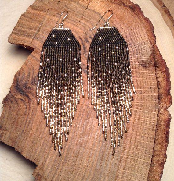 Boucles d'oreilles Fleck Dark Olive par wildmintjewelry sur Etsy