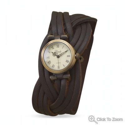 Watch,Brown leather watchband,Leather watch band,Leather bracelet