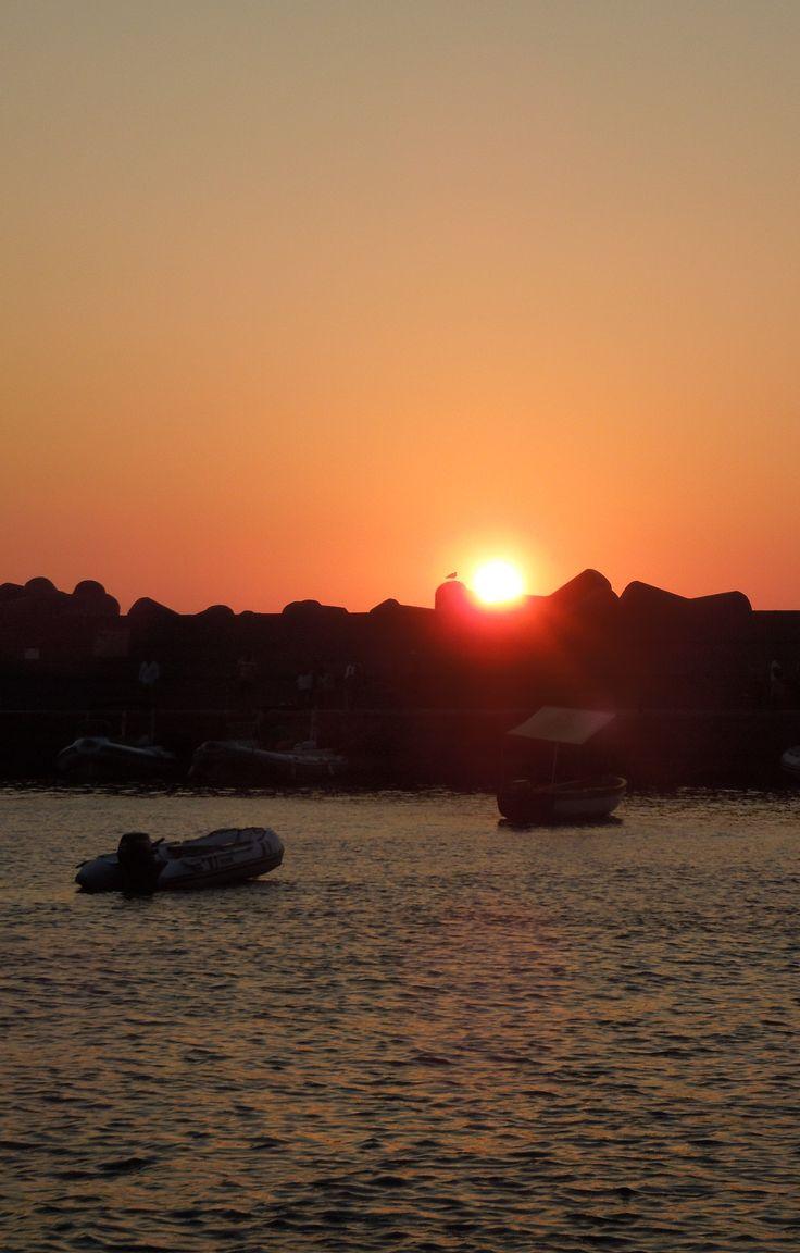 Sunset from Ginostra village, Stromboli Volcano, Aeolian Islands, Sicily.