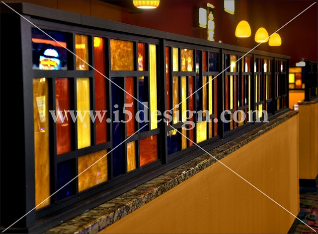 Custom d cor elements custom half wall interior restaurant design interior d cor casino - Half wall interior design ...