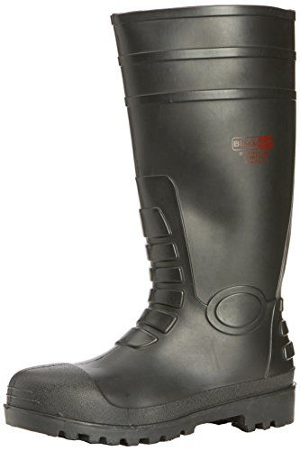 Cheap New Mens/Gents/Unisex Black Steel Toe Caps Safety Wellington Boots. - Black - UK SIZES 3-13 deals week