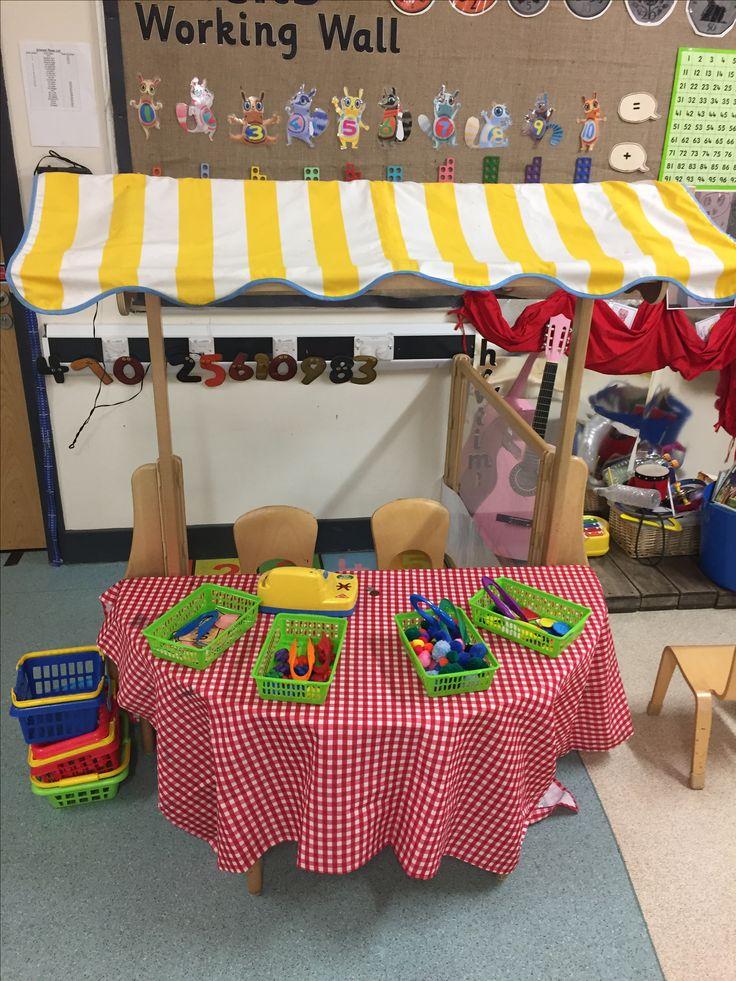 Sweet shop maths area #maths #learningthroughplay #eyfs #nursery