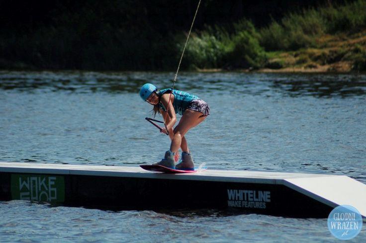Slider session at Wakepark Łomianki.  #wakepark #wakegirl #wakeboarding #Poland