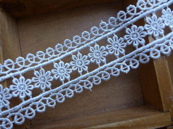 Venise vintage Lace Trim in bianco per Trim da sposa, Abito da sposa tessuto trim, collana, gioielli pizzo