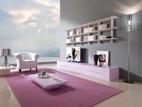 Minimalist Living Room Furniture By Giessegi Lilac