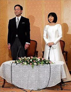 protocolo y comunicacion: Protocolo en una boda real en Japón. La princesa Sayako se casa con un plebeyo