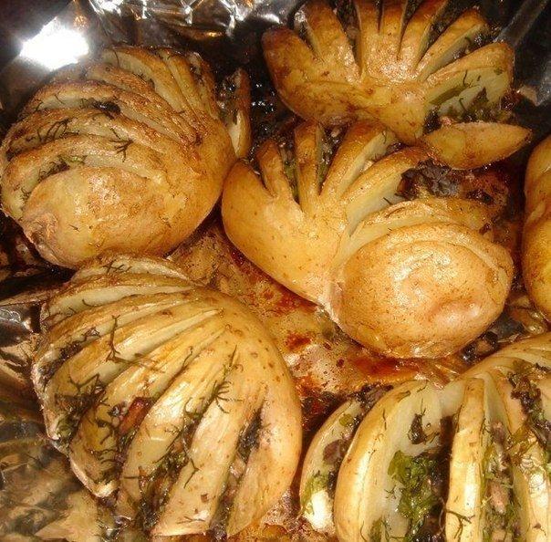 Фото к рецепту: Картошка-гармошка