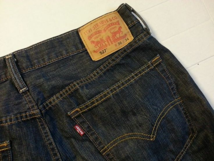 Men's Levi's 527 36x34 Dark Wash Boot Cut Jeans #Levis #BootCut ...