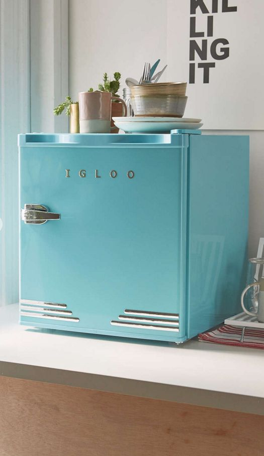 cute tiny fridge for spare bedroom