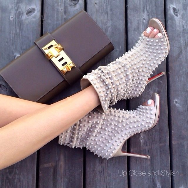 Up Close and Stylish @upcloseandstylish Instagram photos | Webstagram upcloseandstylish #Louboutin 'Guerilla' 120mm and #Hermès 'Medor' clutch (in color tundra) (25 May 2014)