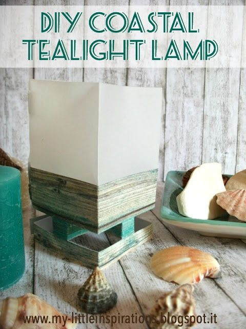 DIY Coastal Foldable Tealight Lamp 1 - My Little Inspirations