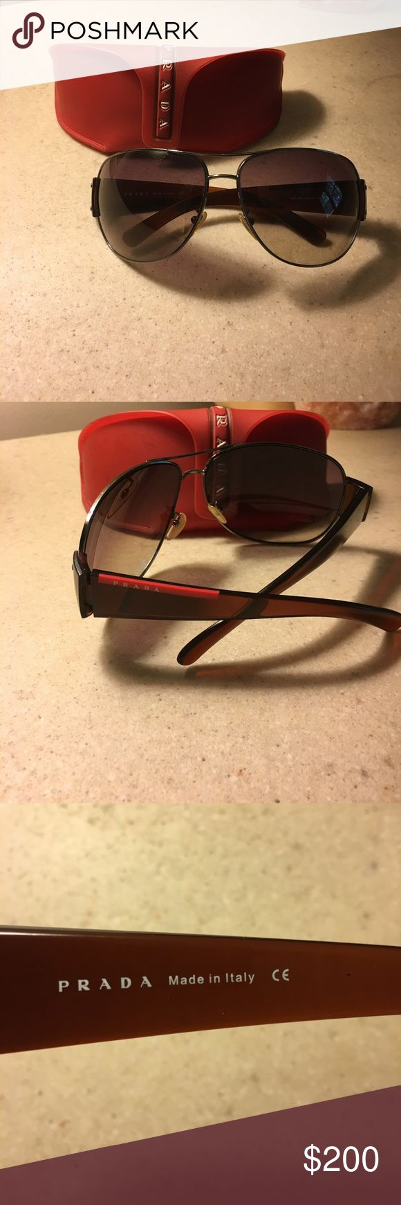 Men's Prada Sunglasses Men's Prada sunglasses in great condition! Authentic with protective original case. Prada Accessories Sunglasses