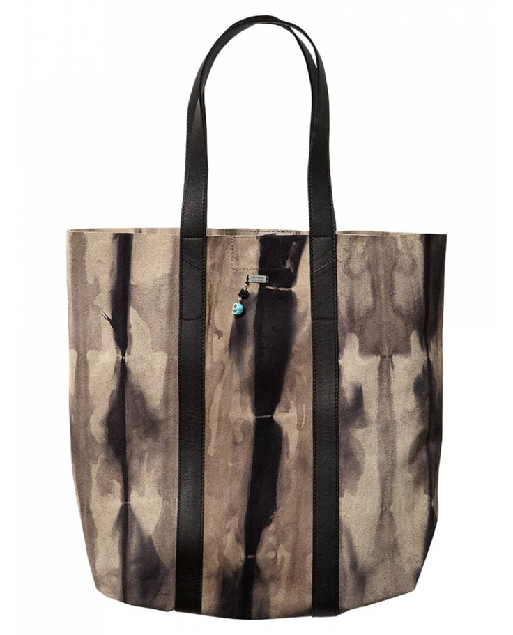 Tie-dye shopper bag in pelle - Borse e borsette - Scotch & Soda Official Moda Online & Negozi Abbigliamento
