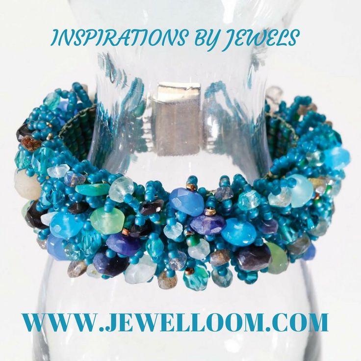 Ocean blue beaded bracelet.