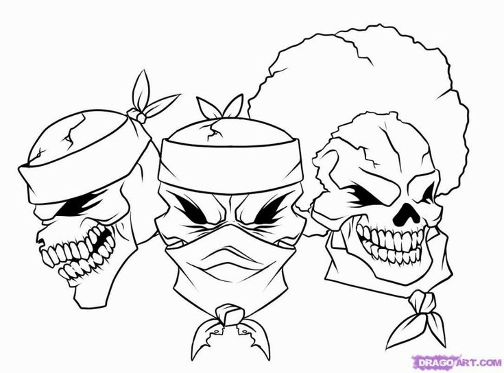 Gangster Coloring Pages in 2019 | Gangster drawings, Easy ...