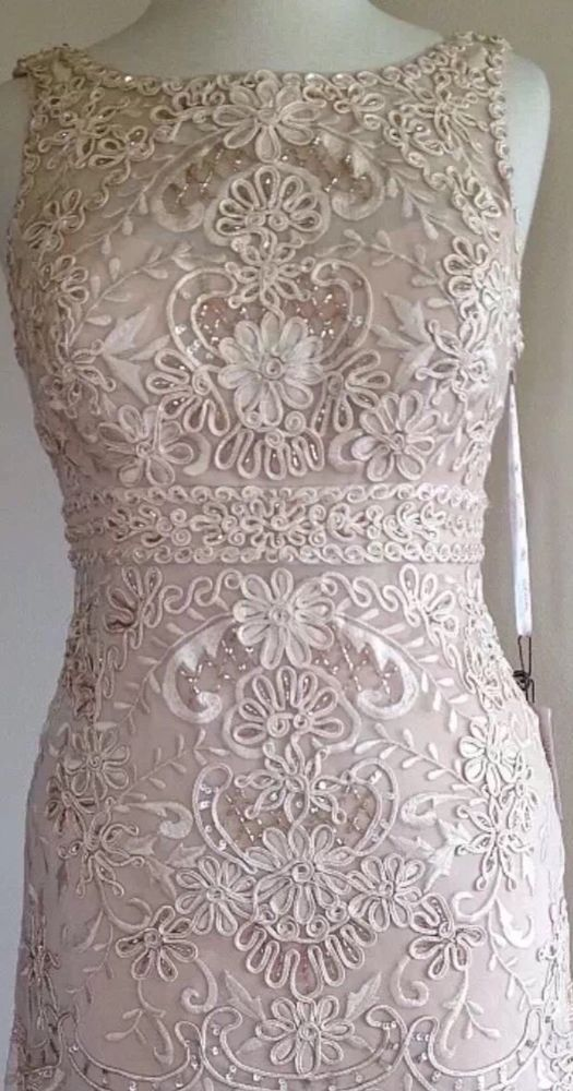 SUE WONG Lace Overlay Beaded Embellished Bridal Formal Cocktail Wedding Dress 8 in Clothing, Shoes & Accessories | eBay