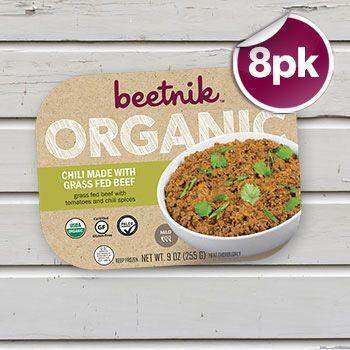 Organic Grass Fed Beef Chili - 8 Meals from @BeetnikFoods #CertifiedPaleo #Paleo