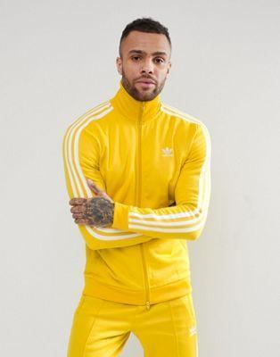 f2acb48a4c02 adidas Originals adicolor Beckenbauer Track Jacket In Yellow CW1254 ...