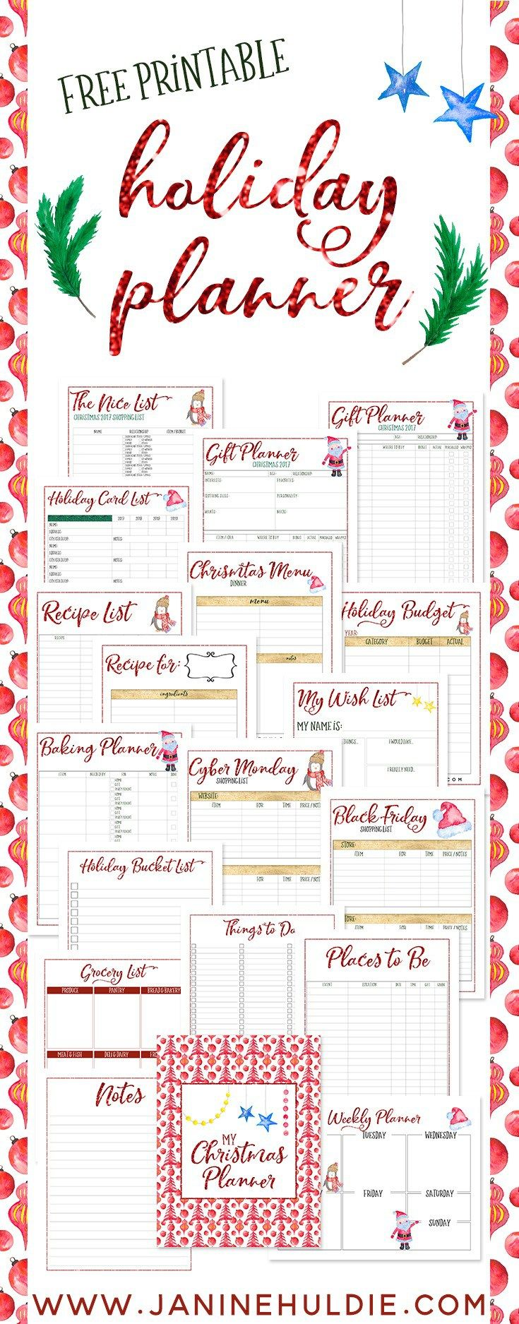 free christmas planner printable available now