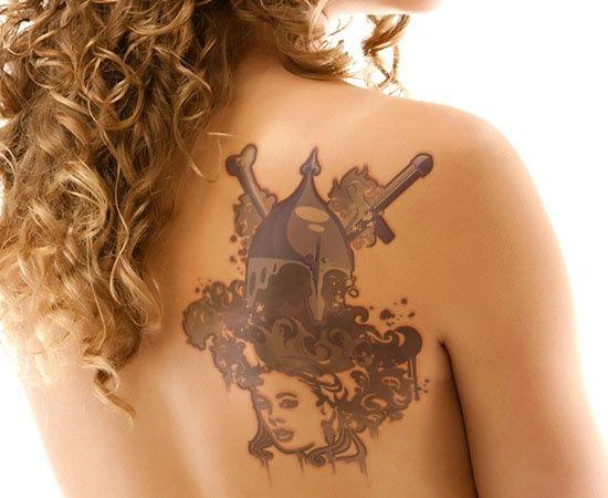 Spartan Warrior Tattoo Design for Women