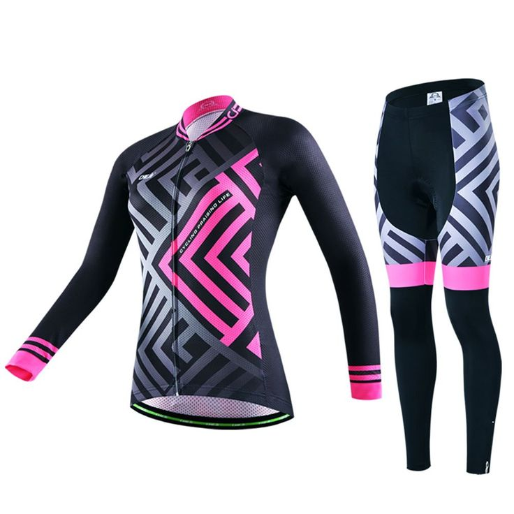 Xinzechen Women's Cycling Jersey Pants Sets Long Sleeve 3D Padded Maze Size S. SIZE TIPS: Asian size may be 1-2 size smaller than US or EU; Usually buying one size up will be OK, but with a extremely big-boned or full figure, we suggest that buying at least two size up; please view the size chart image before ordering. Breathable mesh underarm stitching, effectively lower body temperature, reduce underarm sweating and keep cool. Self-locking zipper design, riding without falling…