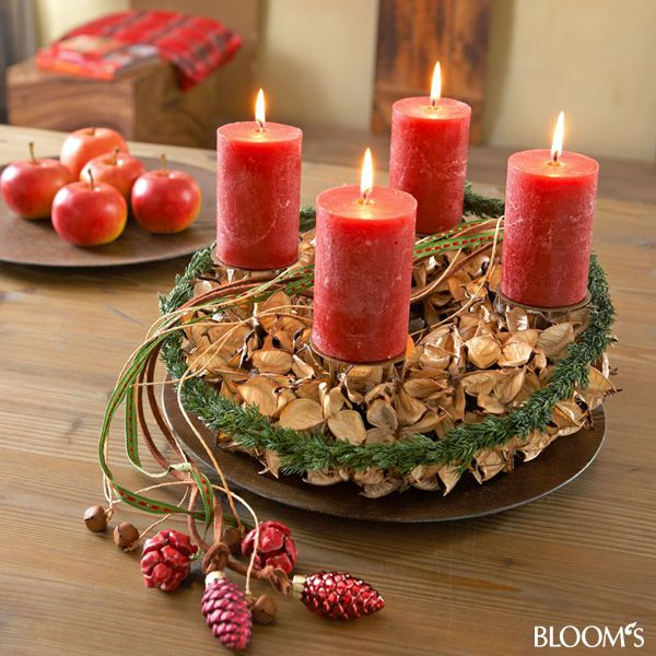 1000 images about adventskr nze natur on pinterest advent wreaths weihnachten and advent. Black Bedroom Furniture Sets. Home Design Ideas