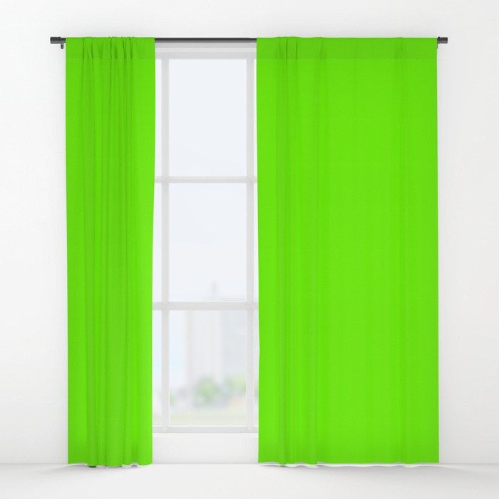Bright Fluorescent Green Neon Window Curtains Curtains Home Decor Drapes Curtains