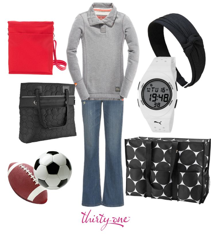 Get ready for the game with this fun trio of Thirty-One products. The Super Organizing Tote and Picnic Thermal Tote will keep all your game day essentials organized, and the Vary You Versatile Bag will have you looking stylish from kickoff to the final whistle.