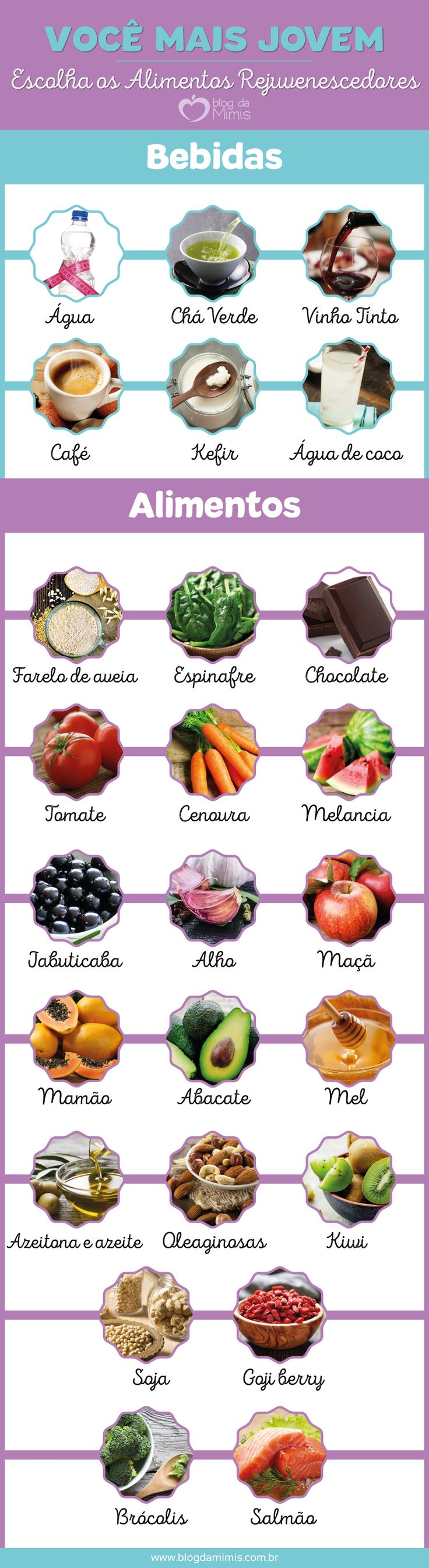 Você mais jovem: escolha os alimentos rejuvenescedores - Blog da Mimis #diet #eating #feeding #nutrition #loseweight #dieta #alimentação #saudável #perderpeso #emagrecer #emagrecimento #blogdamimis