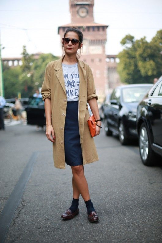 Coat/skirt combo perfection.