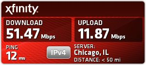 Comcast Speed test on Toshiba - Sep 12 at 6:51am: