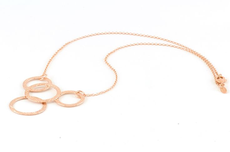 Jewel woman silver 925 - Shop on-line in www.eosbijoux.com   collana in argento, silver necklace, circle shaped, necklace pendant, gaining finishing, argento lavorato, finitura oro rosè, minimal style, elegant necklace, dainty hoop earring.