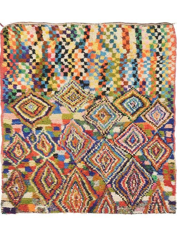 Vintage Moroccan Boujad Carpet 5 3