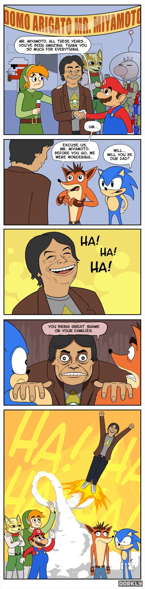 What Shigeru Miyamoto's retirment party will be like.